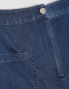 Denim Shorts with Patch Pockets