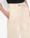 Belted Straight-leg Pants