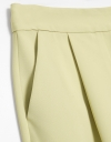 Front Pleat Trousers with Tie Waist
