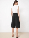 High Rise Front Tie Waist Culottes