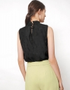 Ruched Neck Top with Self-Tie Back