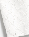 Square Neck Eyelet Lace Detail Dress with Long Puff Sleeves