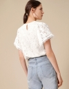 T-shirt with Lace Sleeves and Back