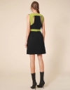Cut Out Back Belted Dress